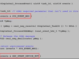 蓝牙BLE开发之四_OSAL按键操作