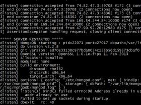 【已解决】MongoDB绑定多个ip启动报错