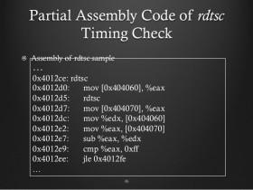 [整理]用c++编写的RDTSC性能计时器